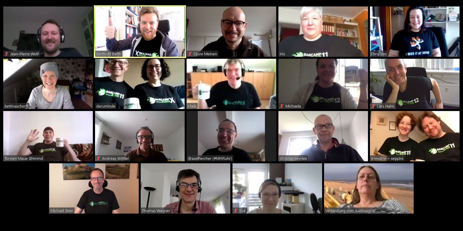 Barcamp Ruhr virtuell Teilnehmer